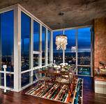 24th Floor Denver Loft - Dining Room Twilight #1