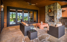 Aspen / Carbondale - Patio with Marvin Folding Doors #1